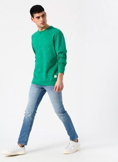 Only & Sons Only & Sons Desenli Yeşil Sweatshirt Yeşil